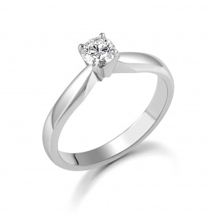 Platinum Brilliant Diamond Ring 0.36cts
