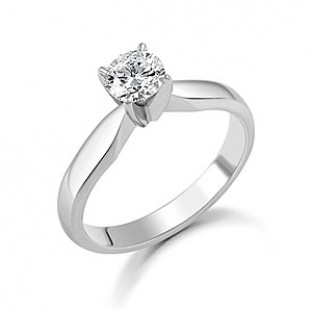 Platinum Brilliant Diamond Ring 1.01cts