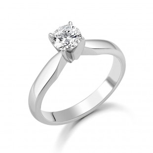 Platinum brilliant diamond ring 0.50cts