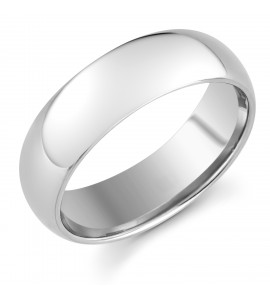 Gents Platinum Light Court Wedding Ring 7mm