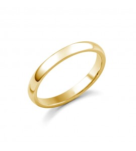 Ladies 18ct Yellow Medium Court Wedding Ring 2.5mm
