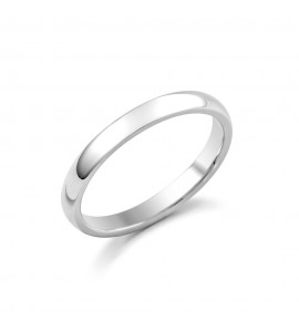 Ladies 18ct White Medium Court Wedding Ring 2.5mm