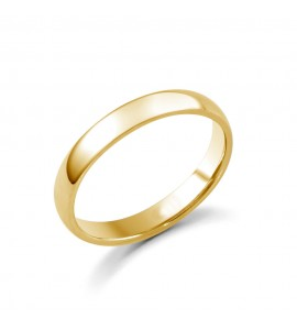 Ladies 18ct Yellow Medium Court Wedding Ring 3mm