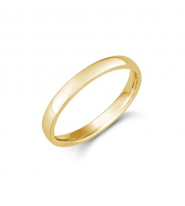 Ladies 18ct Yellow Domed Comfort Wedding Ring 2.5mm