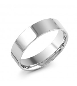 Gents Palladium Medium Flat Court Wedding Ring 6mm