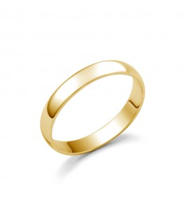Ladies 18ct Yellow Gold D-Shape Wedding Ring 3mm