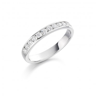 Brilliant Channel Set Eternity Ring 0.50cts