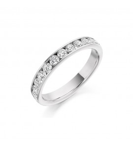Brilliant Channel Set Eternity Ring 0.75cts