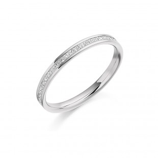 Princess Channel Set Eternity Ring 0.25cts