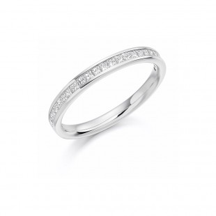 Princess Channel Set Eternity Ring 0.33cts