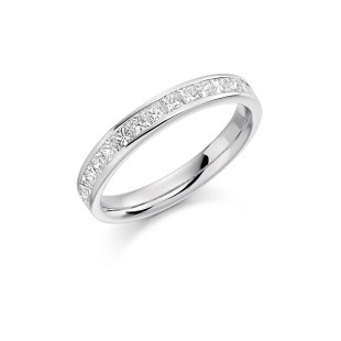 Princess Channel Set Eternity Ring 0.75cts
