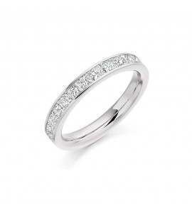 Princess Channel Set Eternity Ring 1.00cts