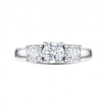Classic Brilliant Cut Trilogy Diamond Ring 1.50cts