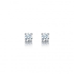 Classic Brilliant Diamond Earrings 0.40cts