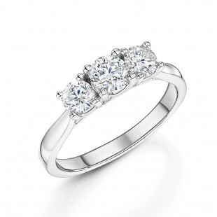 Classic Brilliant Cut Trilogy Diamond Ring 1.00cts