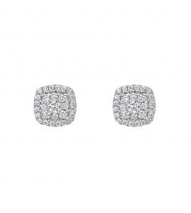 Vintage Cushion Diamond Earrings 0.65cts