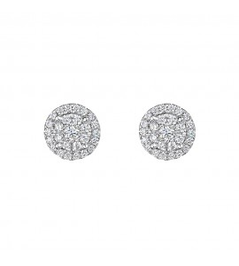 Vintage Cluster Diamond Earrings 0.62cts