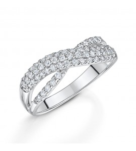 Brilliant Diamond Crossover Ring 0.52cts