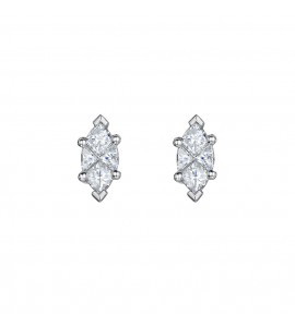 Marquise Illusion Diamond Earrings 0.74cts