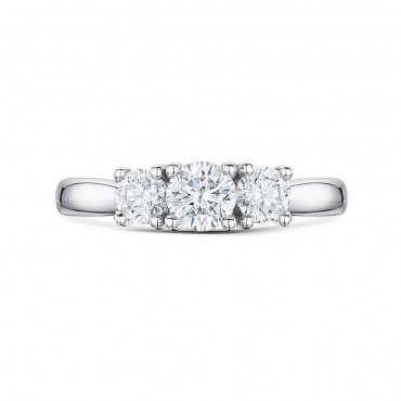 Classic Brilliant Cut Trilogy Diamond Ring 0.75cts
