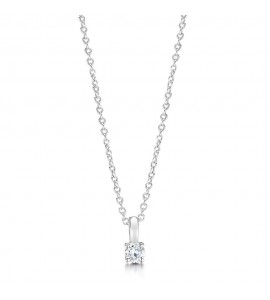 18ct White Gold Diamond Necklace 0.20cts