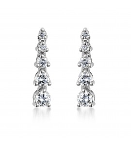 18ct White Gold Diamond Drop Earrings 0.50cts