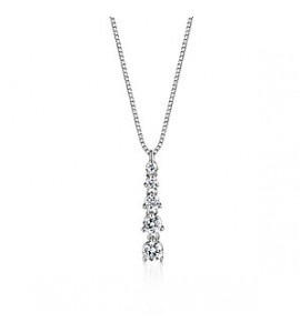 Diamond drop pendants 18ct white gold diamond drop pendant 050cts aloadofball Choice Image