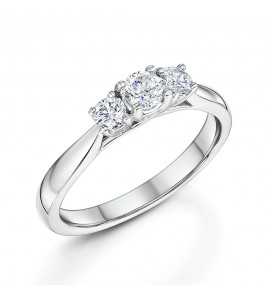 Classic Brilliant Cut Trilogy Diamond Ring 0.50cts