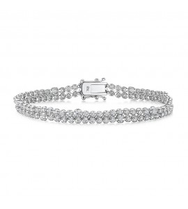 Two Row Diamond Tennis Bracelet 2.63cts