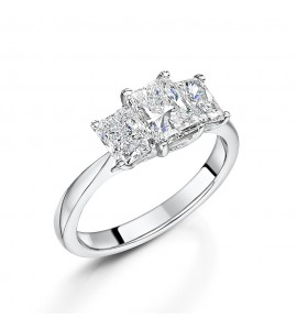 Radiant Cut Diamond Trilogy Ring 2.03cts