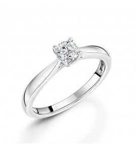 18ct White Gold Brilliant Diamond Ring 0.35ct