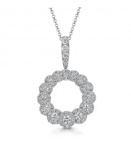Fancy Cluster Diamond Pendant 0.97ct