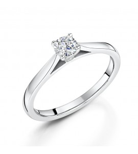 Classic Brilliant Solitaire Diamond Ring 0.32cts