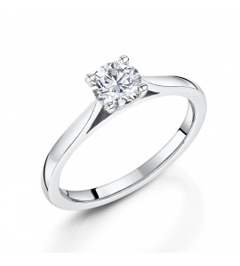 Classic Brilliant Solitaire Diamond Ring 0.50cts