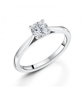 Classic Brilliant Solitaire Diamond Ring 0.60cts