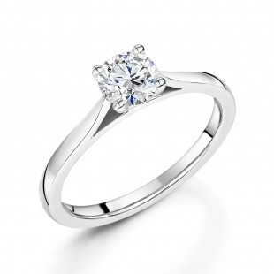 Classic Brilliant Solitaire Diamond Ring 0.71cts