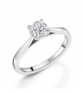 Classic Brilliant Solitaire Diamond Ring 0.82cts