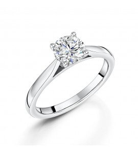 Classic Brilliant Solitaire Diamond Ring 0.90cts
