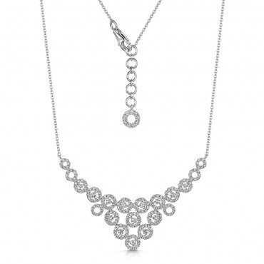 Brilliant Cut Diamond Necklace 1.55cts