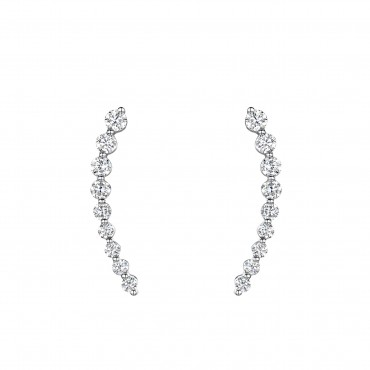 Brilliant Cut Diamond Earrings 0.59cts