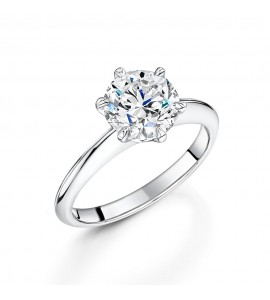 Classic Brilliant Solitaire Diamond Ring 2.03cts