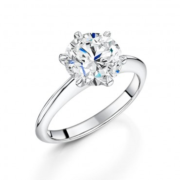 Platinum Brilliant Diamond Ring 3.01cts
