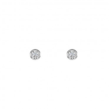 Diamond Rubover Earrings 0.16cts