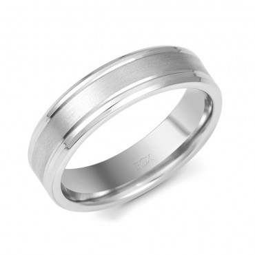 Palladium Wedding Ring 6mm