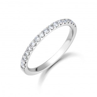 Micro Claw Diamond Eternity Ring 0.33cts