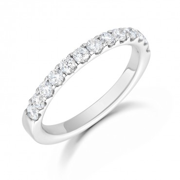 Micro Claw Diamond Eternity Ring 0.75cts