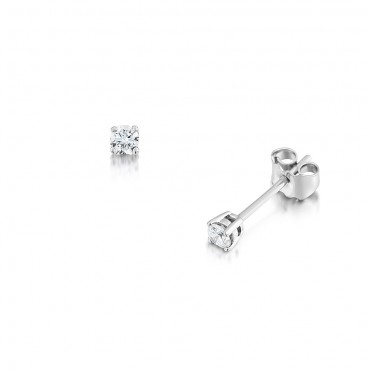 Classic Brilliant Diamond Earrings 0.20cts