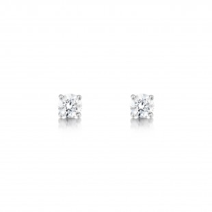 18ct White Gold Diamond Earrings 0.50cts