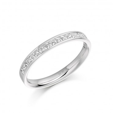 Princess Channel Set Eternity Ring 0.50cts
