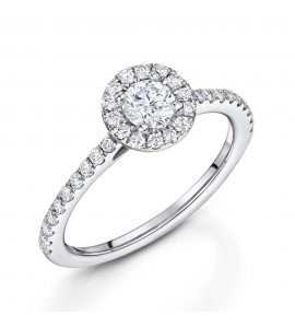 Brilliant Diamond Halo Ring 0.60cts